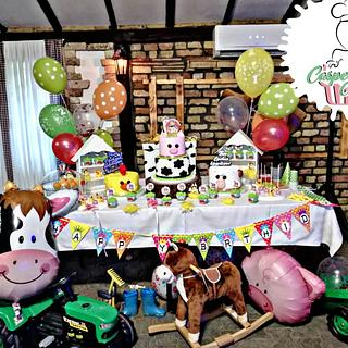 Farm sweet table - Cake by Casper cake