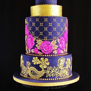 Indian Wedding Cake - Incredible India - An International Cake Collaboration - Cake by Sylwia Jozwiak