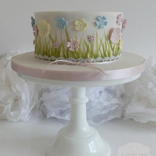 Floral Baby Shower Cake - Cake by The Ivory Owl Cake Company