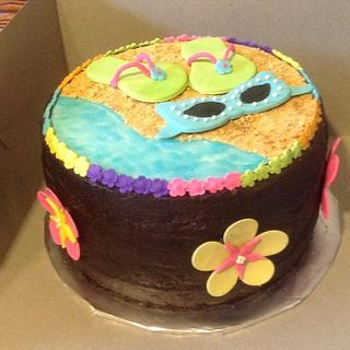 Sunglasses and flip flops - Cake by Missy