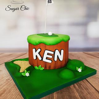 Airbrushed Golf Cake