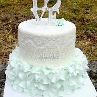 vintage weeding cake - Cake by Dchocolat