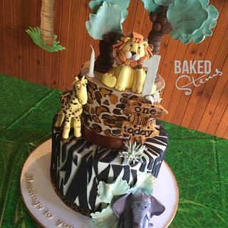 Safari animal theme  - Cake by Baked Stems