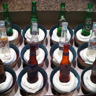 Beer bottle cupcake toppers