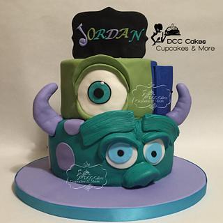 Monster's Inc 1st Birthday Cake