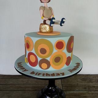 Retro 70s 40th Birthday Cake