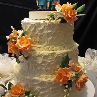Rustic wedding cake - Cake by Shanikah Fernando