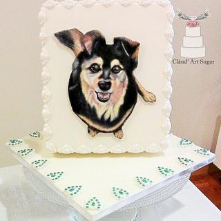 Dog Painted Cake