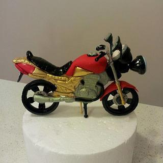 Iron man's motor bike