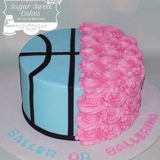 Baller or Ballerina - Cake by Sugar Sweet Cakes