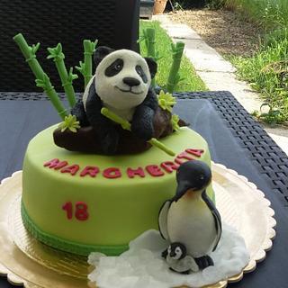 panda e pinguini