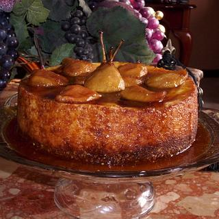 Forelle Pear and Ginger Cheesecake