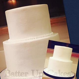 all white buttercream wedding cake