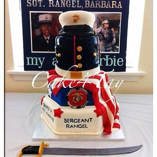 Marines  - Cake by Angel Chang