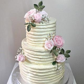 Meringue cream wedding