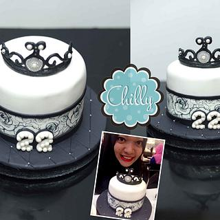 Black & White Princess Cake