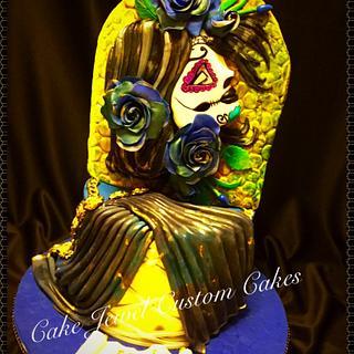 Sugar Skull theme Cake