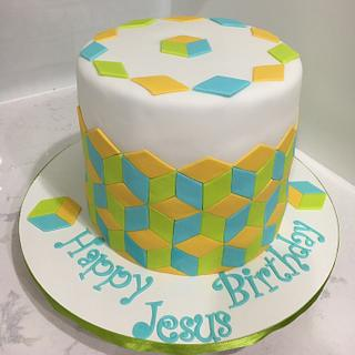 Hexagon cake