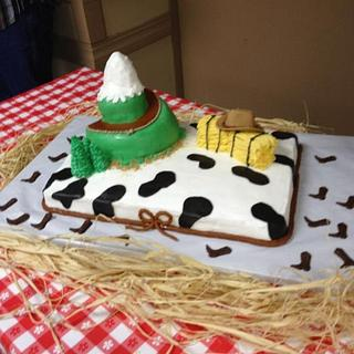 They'll be coming around the mountain - Cake by sugardipped