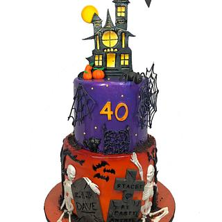 Halloween 40th Birthday cake