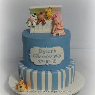 Toybox Christening Cake