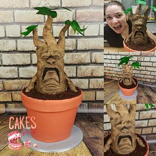 Sculpted Mandrake Root Cake