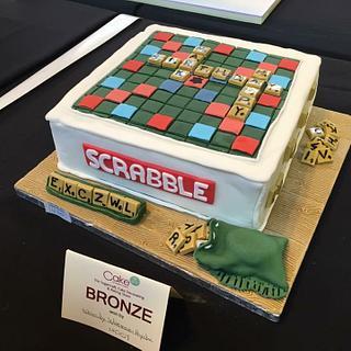 Scrabble Board - Cake by Woody's Bakes
