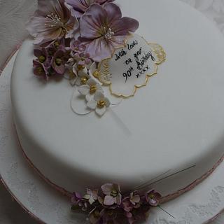 Cosmos 90th birthday cake