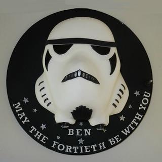 Stormtrooper head cake