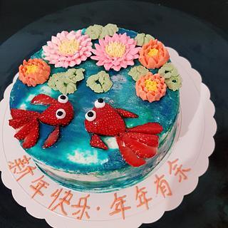 Chinese New year buttercream cake