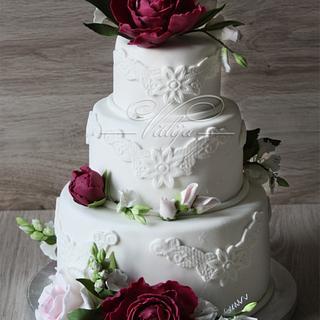 floral wedding cake - Cake by VitlijaSweet