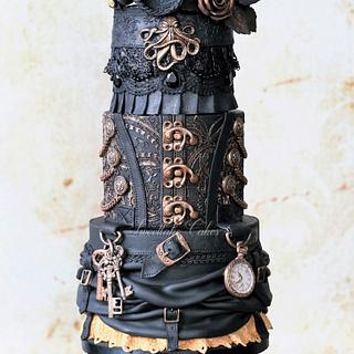 Pirate steampunk cake - Cake by Tamara