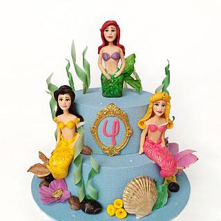 Mermaid Princesses cake