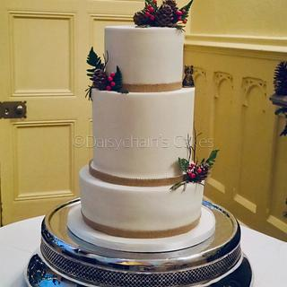 Hidden scene wedding cake
