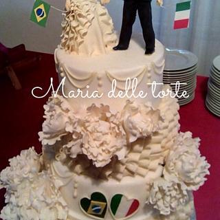 International wedding cake - Cake by MariaDelleTorte