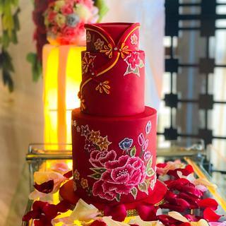 Oriental Wedding Cake
