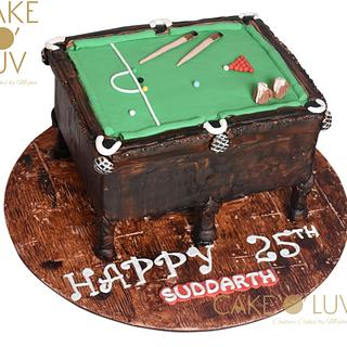 Antique billiards table - Cake by Cake O'Luv - megha