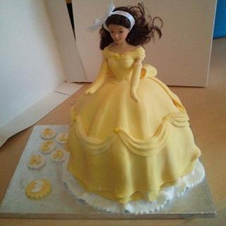 Princess Belle - Cake by ldarby