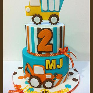 Construction themed cake for MJ