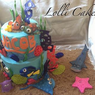 Finding Nemo, under the sea cake