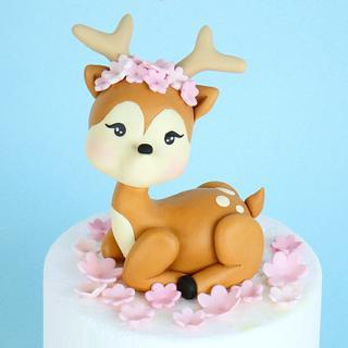 Deer cake topper - Cake by Alex