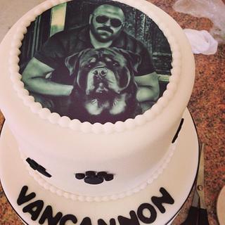 Rottweiler cake