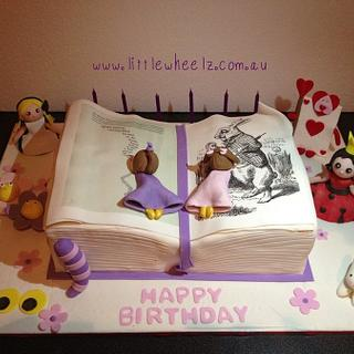 Alice in Wonderland Story Book Cake