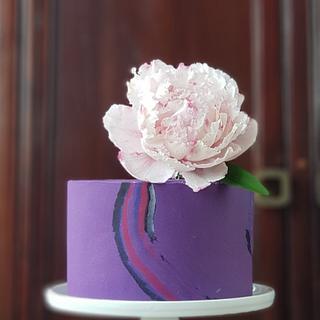 Mini Wedding Cake Peony