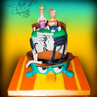 Phienies and Ferb cake