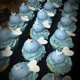 Whale Cupcakes - Cake by Cakes By Rian