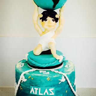 Greek God Atlas gravity defying cake