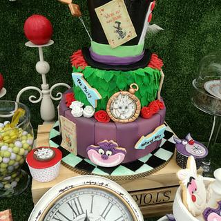 Mad hatter themed cake
