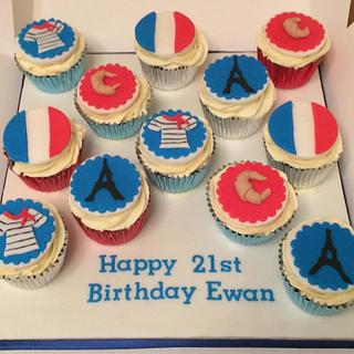 French Theme Cupcakes