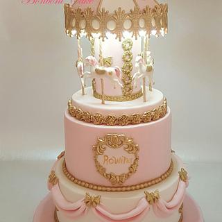 carousel with light cake